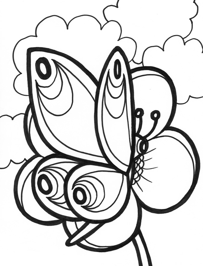 650x852 Butterfly Templates Printable Crafts Colouring Pages