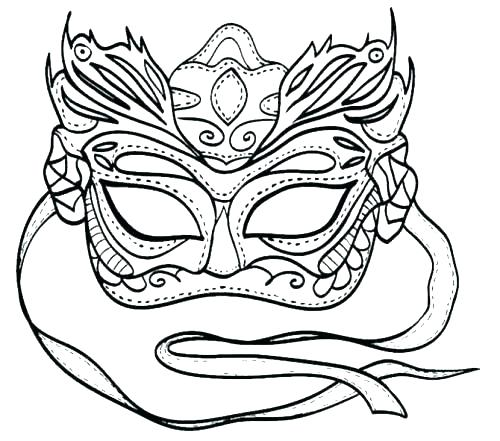 500x441 Mardi Gras Mask Printable Coloring Pages Mask Coloring Pages