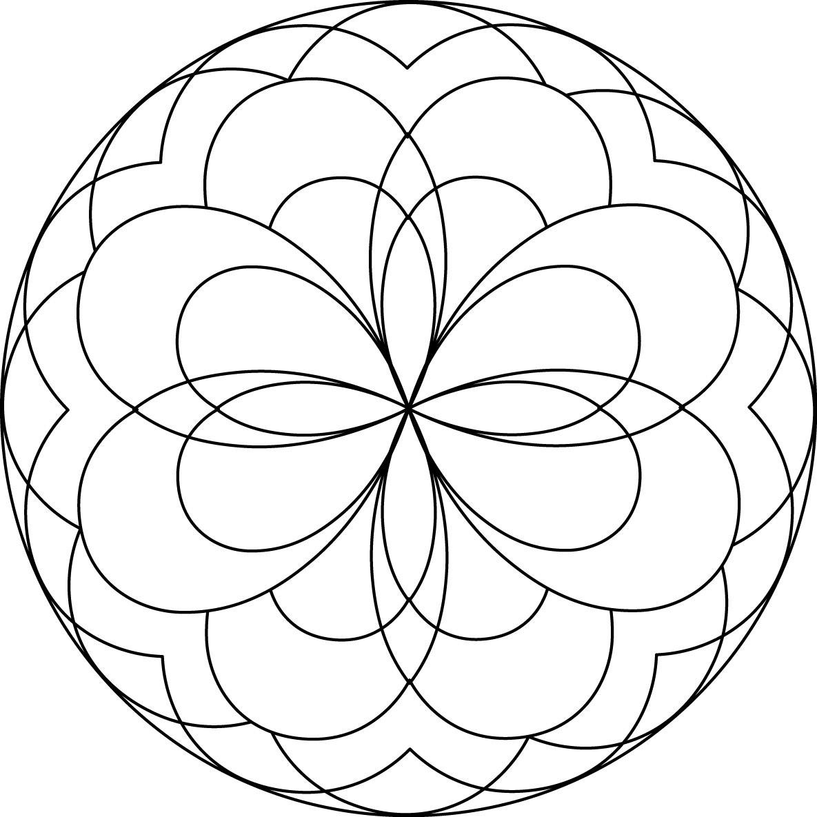 1185x1185 Simple Mandala Coloring Pages Download And Print For Free