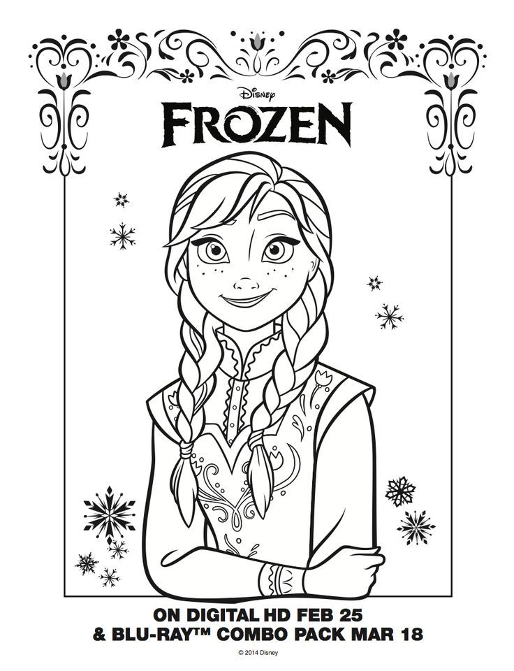 736x960 Frozen Coloring Pages Anna And Elsa Little Free Coloring Pages