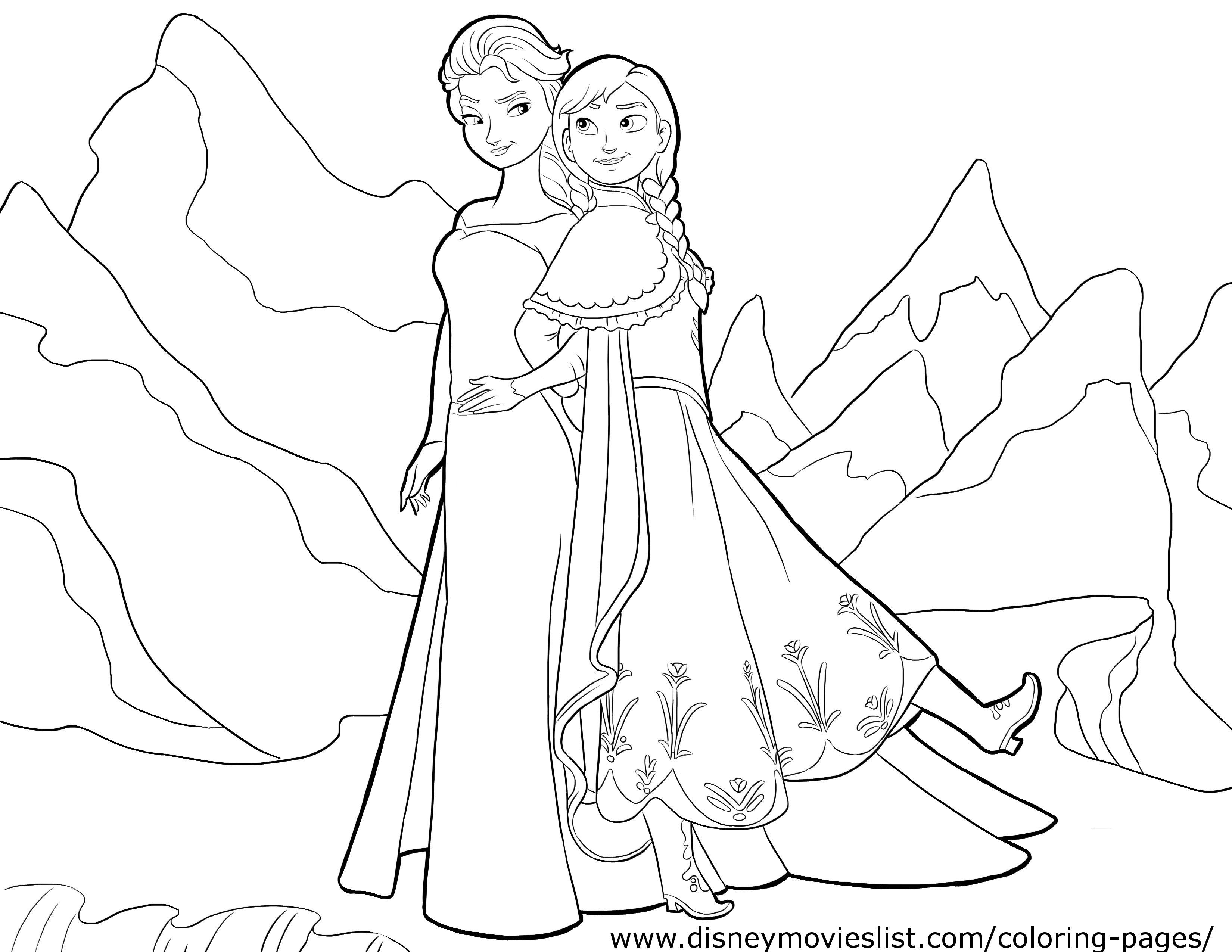 Free Elsa Frozen Coloring Pages at GetDrawings.com | Free ...