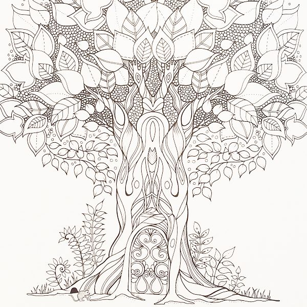 600x600 Enchanted Forest Coloring Pages Pdf