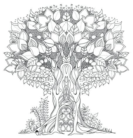 454x472 Enchanting Mandala Coloring Pages Free Printable Enchanted Forest