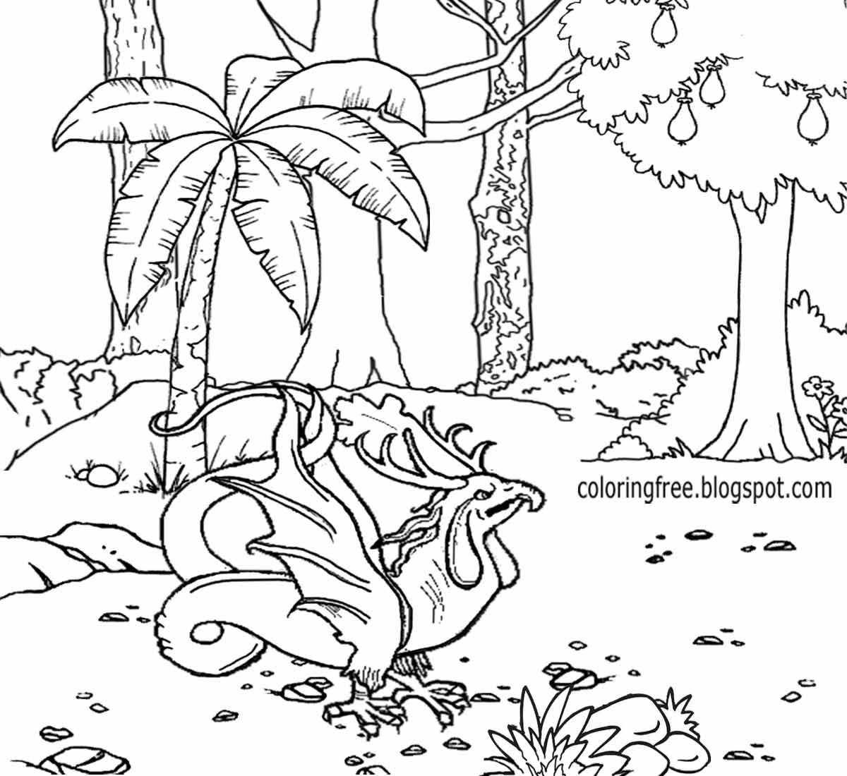 Free Enchanted Forest Coloring Pages at GetDrawings | Free ...