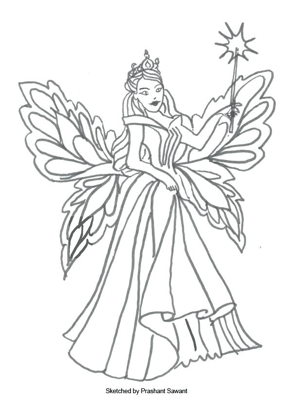 Free Fairy Coloring Pages at GetDrawings.com | Free for ...