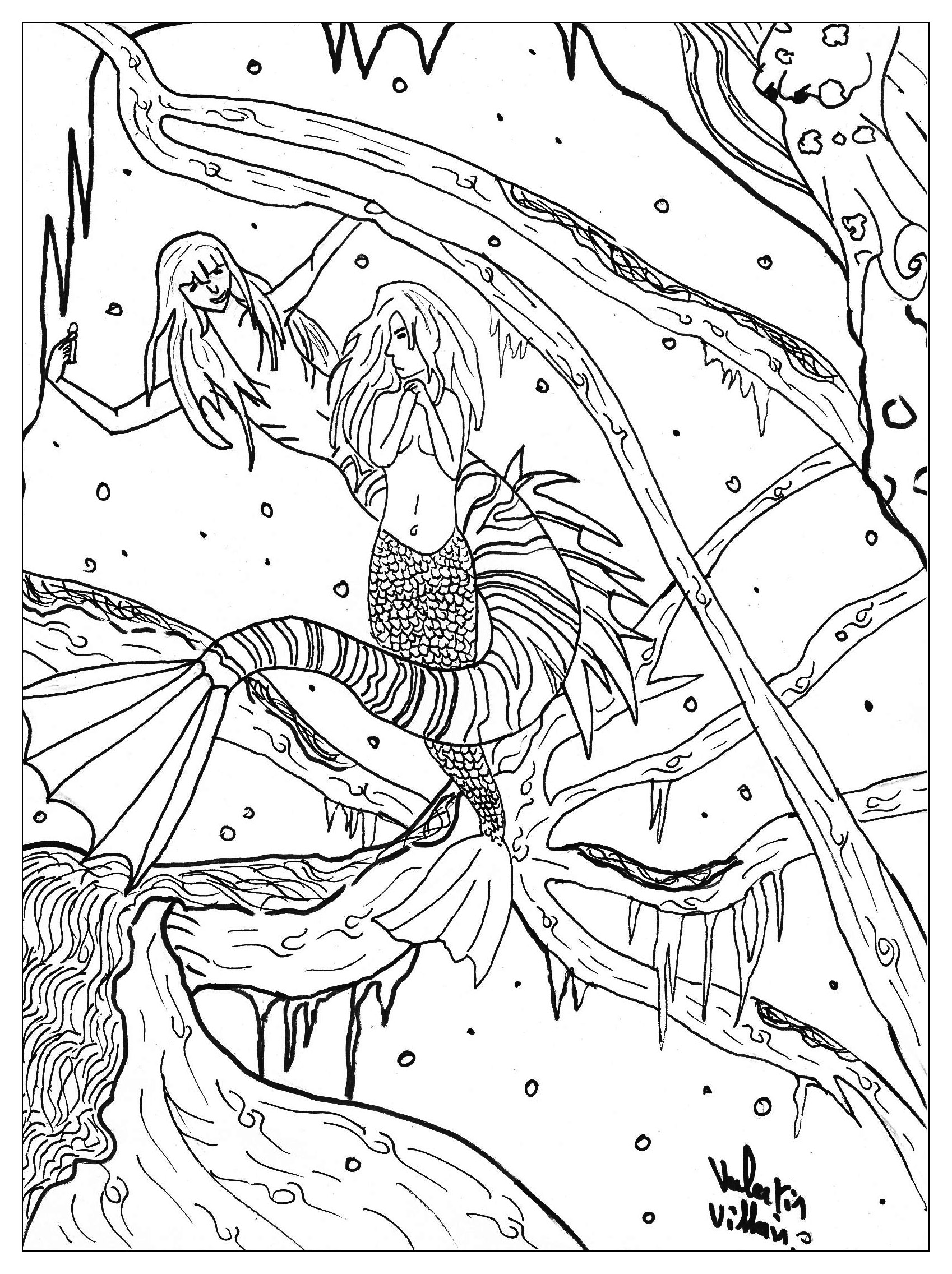 1698x2272 Skill Free Printable Fantasy Coloring Pages For Adults Colorful