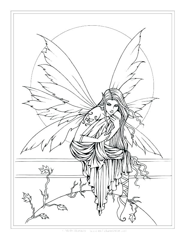 618x800 Fairy Coloring Pages For Adults