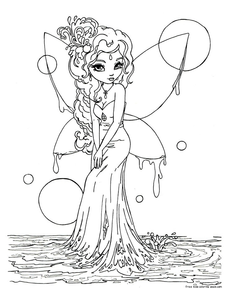 736x930 Cute Free Printable Fantasy Coloring Pages For Adults