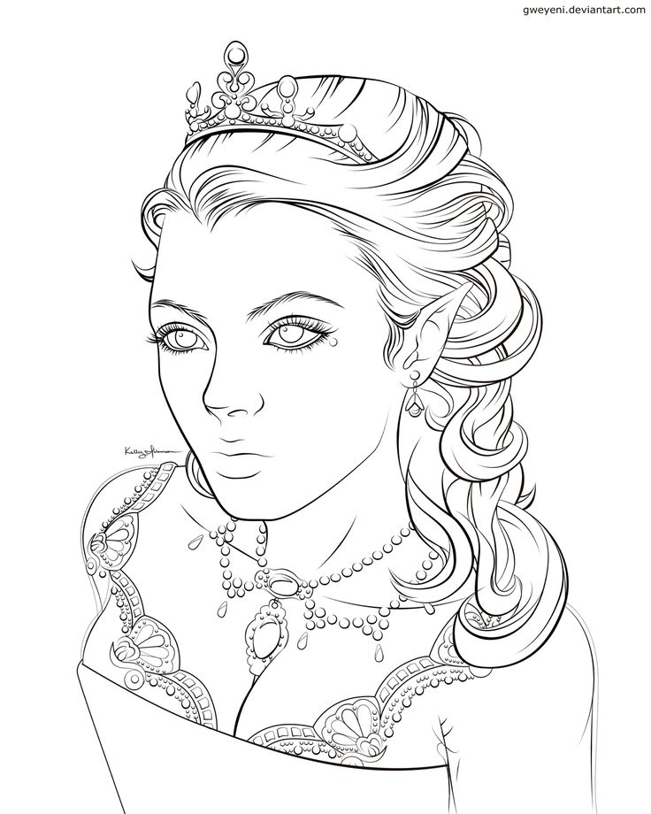 736x920 Elf Coloring Pages For Adults