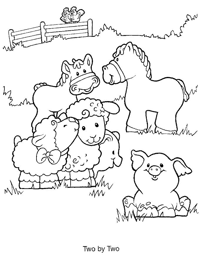 This is a photo of Printable Farm Animals Coloring Pages in medium farm