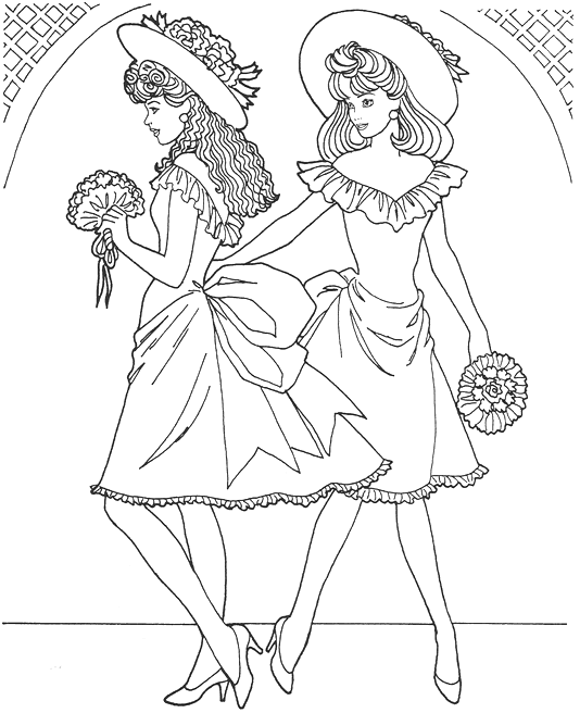 534x656 Fashion Coloring Page Model Book Fashion