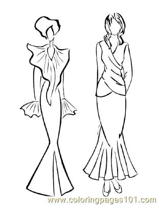 309x400 Fashion Coloring Pages Printable