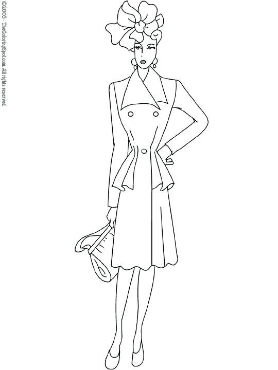 540x720 Fashion Coloring Pages To Print Fashion Coloring Pages Fashion