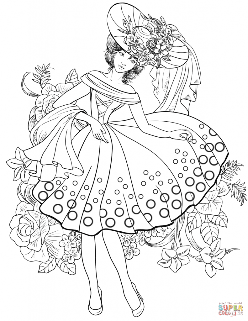 791x1024 Fashion Coloring Pages