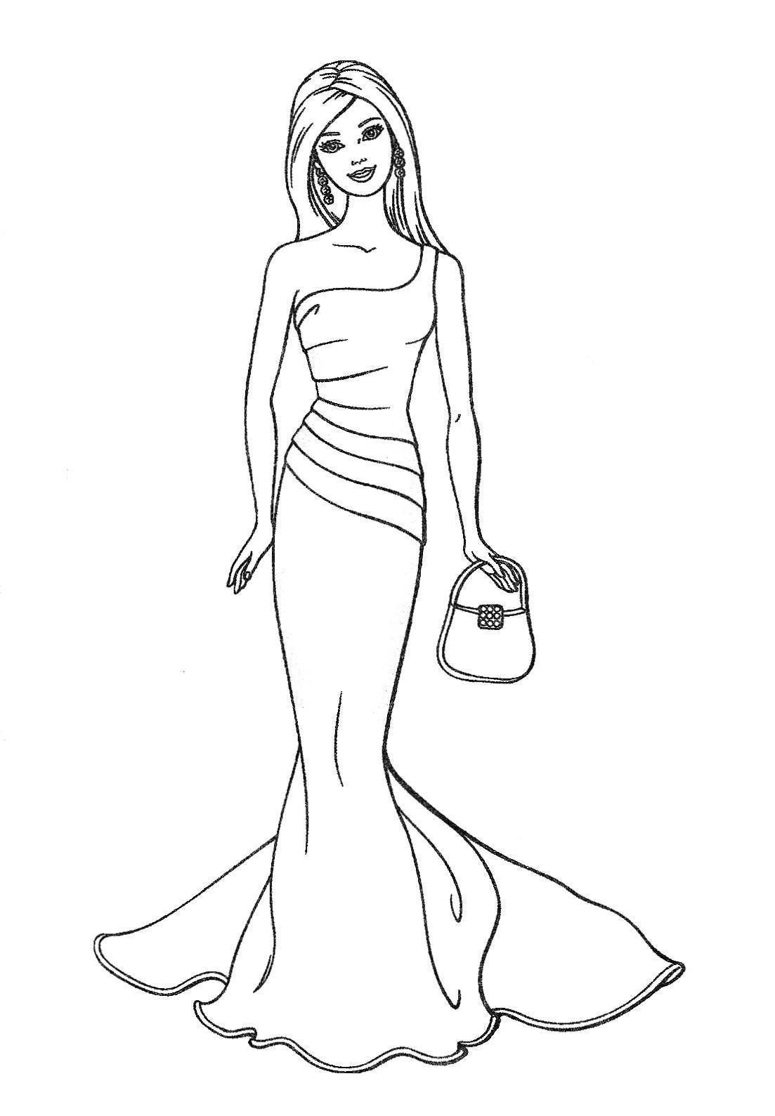 1103x1589 Free Printable Barbie Coloring Pages For Kids