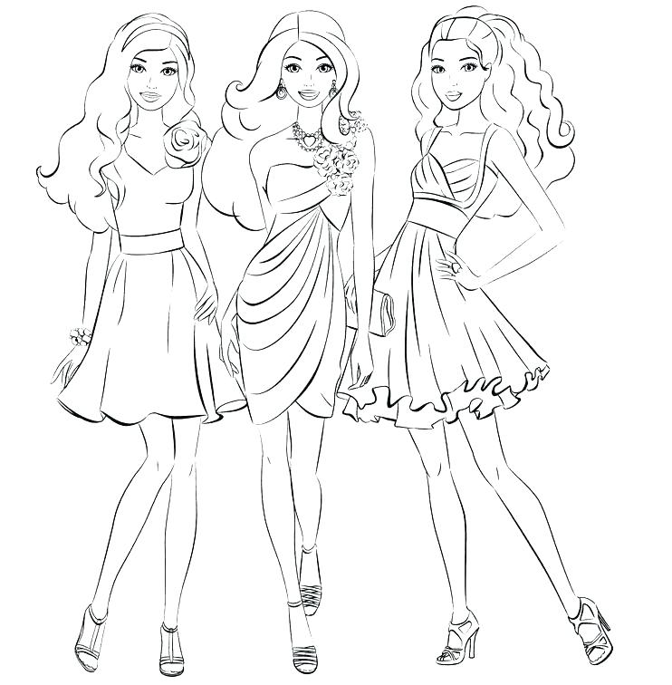 742x756 Barbie Printable Coloring Pages Barbie A Fashion Coloring Pages