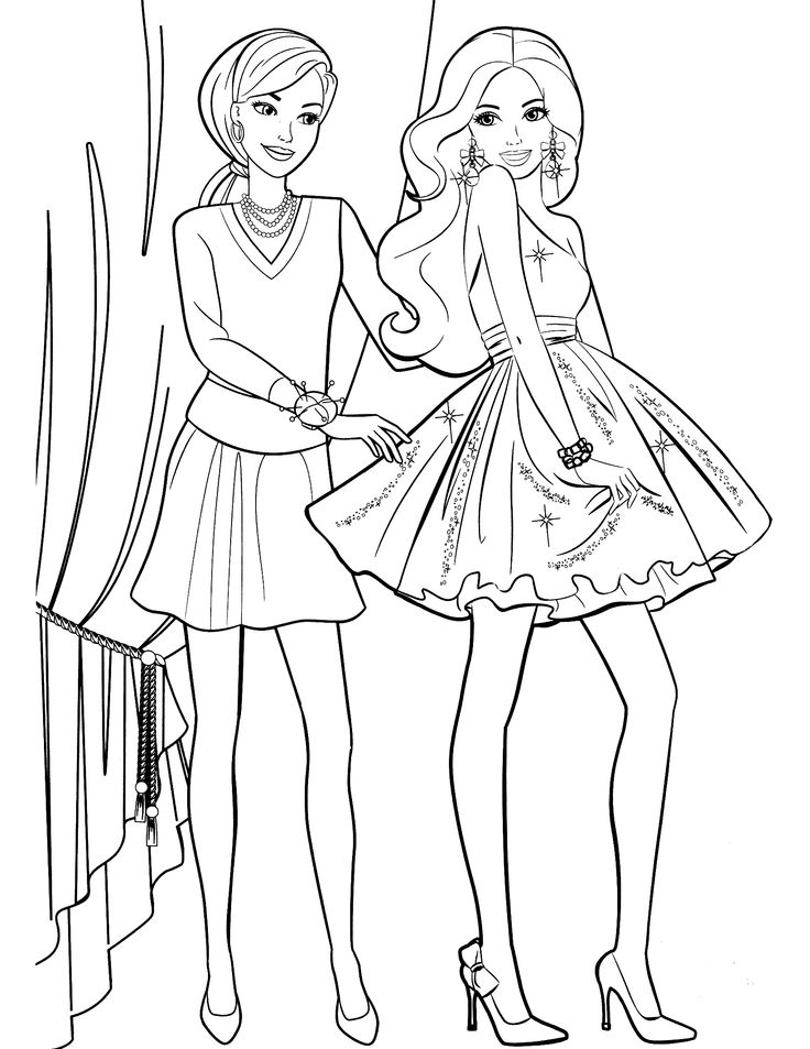 736x953 Casual Fashion Coloring Pages For Girls In Amusing Page Draw