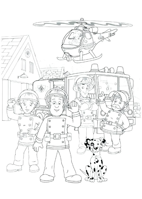 600x840 Fire Department Coloring Pages Free Fire Safety Coloring Pages