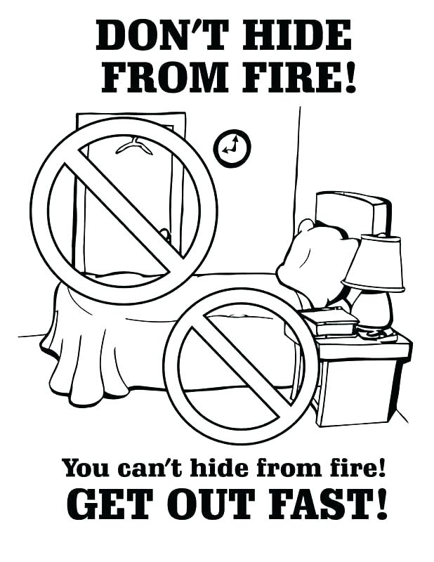 618x800 Fire Safety Color Pages Coloring Sheets Free Popular Colouring