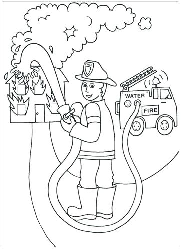 Free Fire Safety Coloring Pages at GetDrawings.com | Free ...
