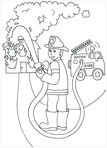 361x496 Free Fire Safety Coloring Pages Fire Prevention Coloring Sheets
