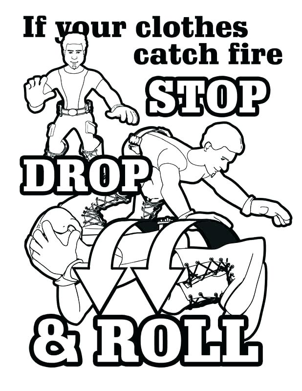 618x800 Free Fire Safety Coloring Pages Free Fire Prevention Coloring