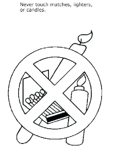 370x480 Fire Safety Coloring Pages