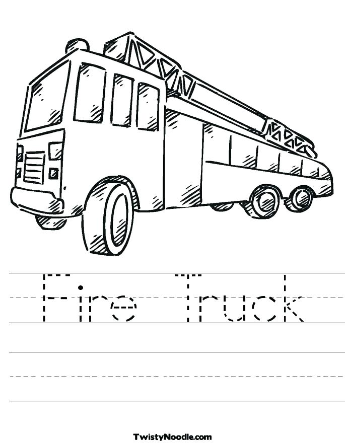 685x886 Fire Truck Coloring Pages
