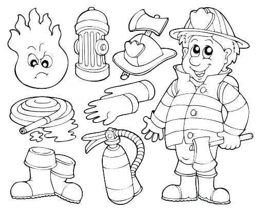 500x407 Elegant Free Printable Safety Coloring Pages For Free Fire Safety