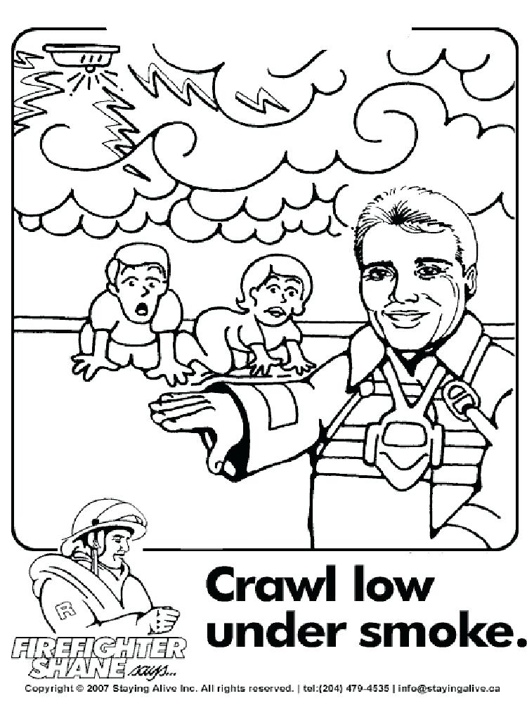 750x1000 Excellent Fire Department Coloring Pages Safety Coloring Pages