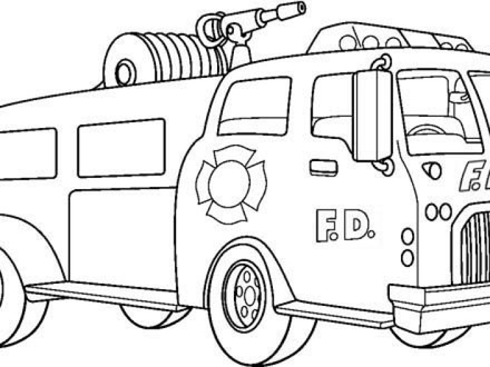 Free Fire Truck Coloring Pages Printable
