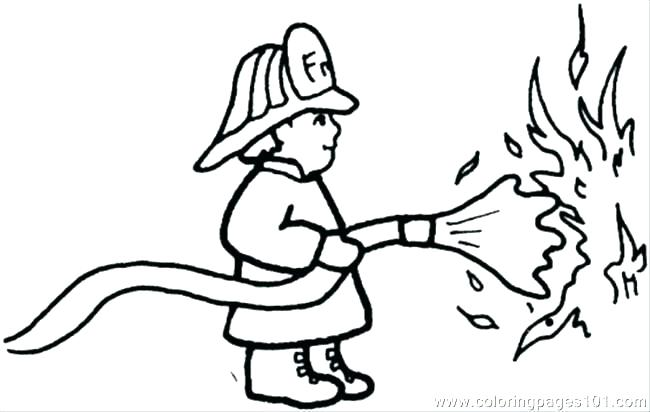 650x412 Fire Fighter Coloring Pages Fireman Coloring Page Brown Fire