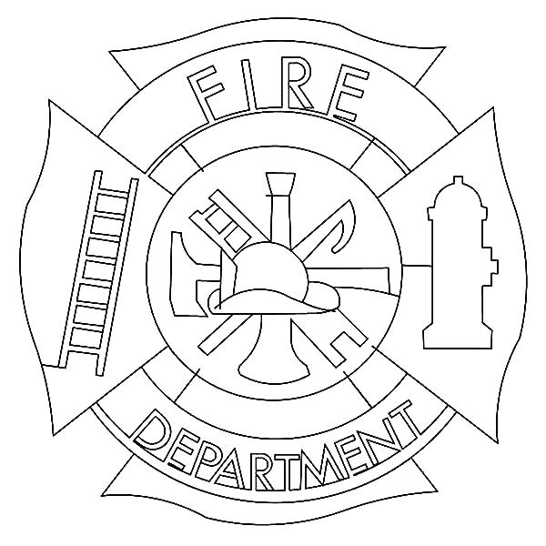 600x600 Fire Truck Coloring Pages Printable Free Fireman Coloring Pages