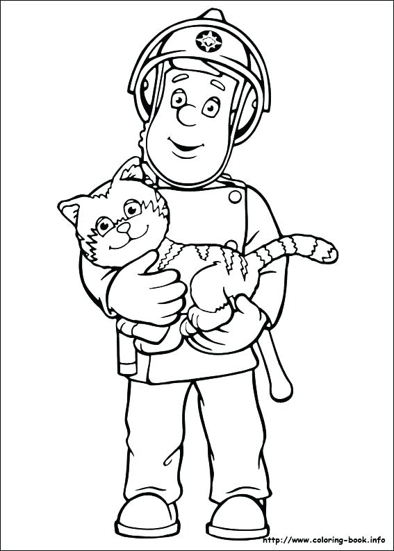 567x794 Firefighter Coloring Page For Kids Fireman Coloring Page Index