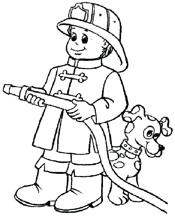 600x741 Color Coloring Pages Fireman Coloring Pages Coloring Page