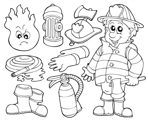 500x407 Fireman Coloring Pages Free Printable