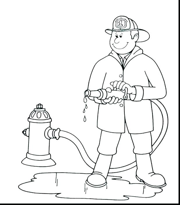 618x704 Firefighter Hat Coloring Page