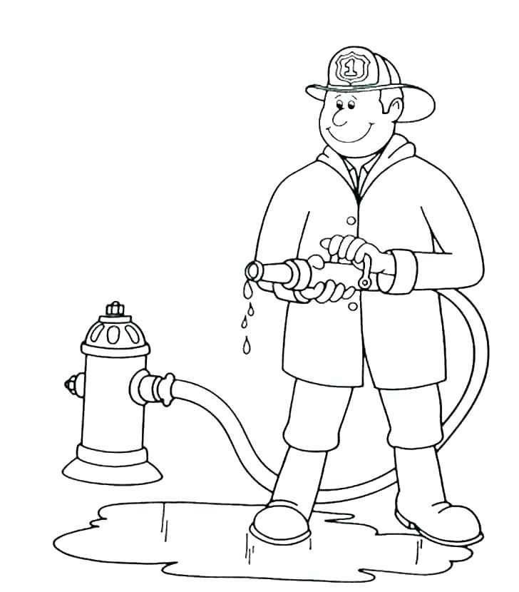 728x830 Coloring Pages Fireman Coloring Pages Fireman Fire Fighter