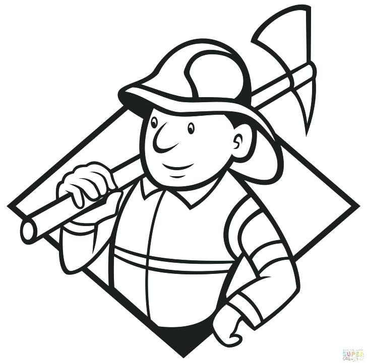 728x723 Fire Fighter Coloring Pages Fire Fighting Coloring Pages Fireman