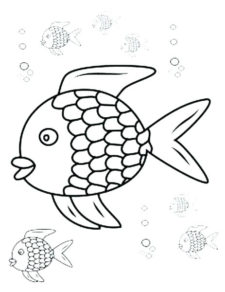 463x600 Coloring Pages Of A Rainbow Fish Outline Coloring Page Rainbow