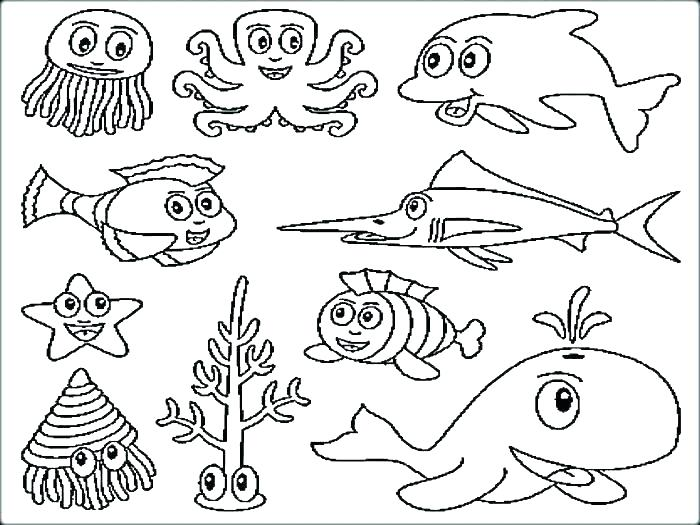 700x525 Fish Coloring Page Sea Creatures Coloring Pages Fish Coloring