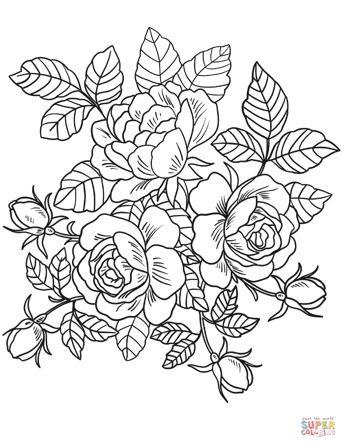 1159x1500 Flower Outline Coloring Pages Flowers Coloring Pages Free Coloring