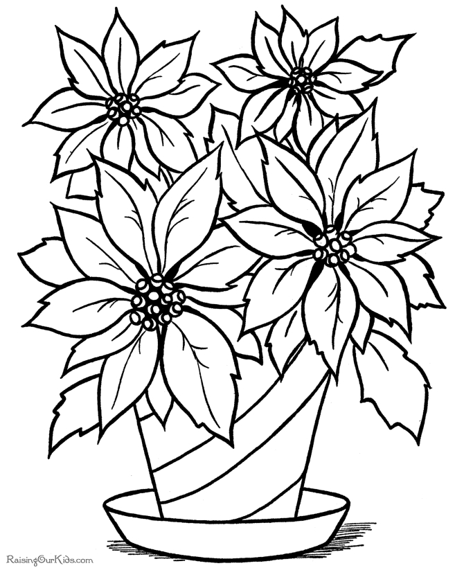 670x820 Marvellous Design Flowers Coloring Pages Free Printable Collection