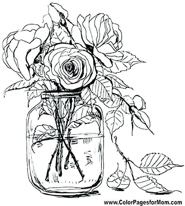 640x712 Printable Flowers Coloring Pages Best Of Flower Coloring Pages