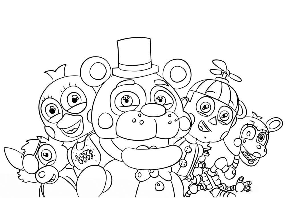 Free Fnaf Coloring Pages