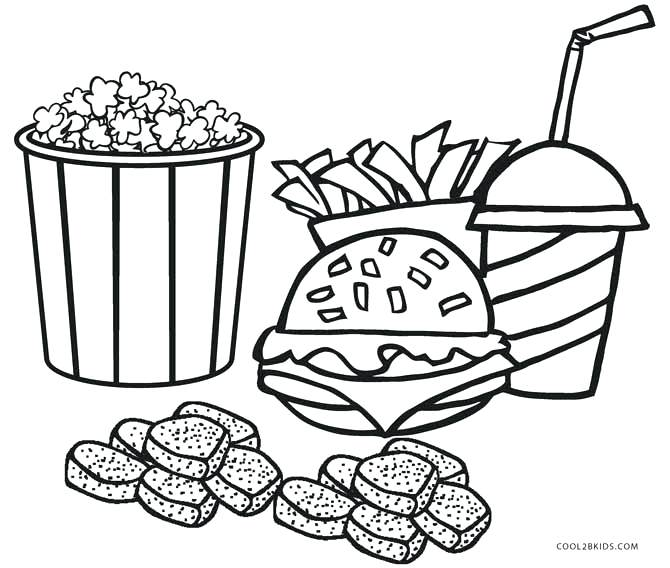 670x568 Food Coloring Pages Junk Food Coloring Pages Free Printable