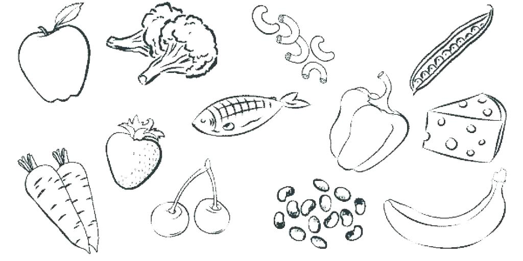 1024x512 Healthy Food Coloring Page Free Health Eating Coloring Pages Food