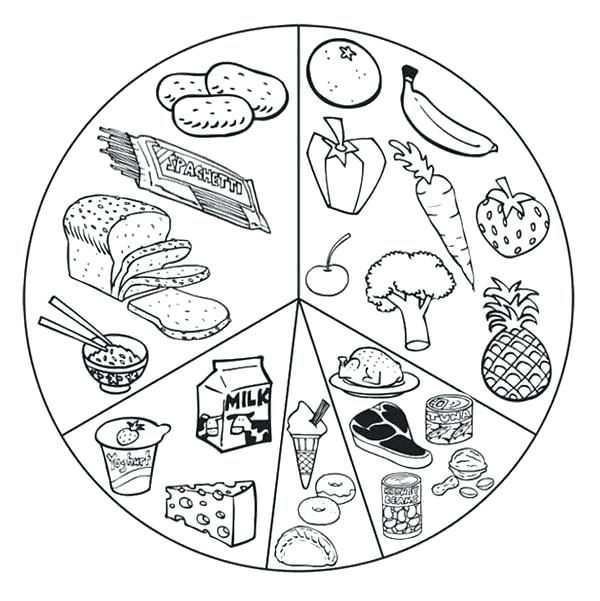 600x601 Healthy Food Coloring Pages Printable Healthy Foods Coloring Pages