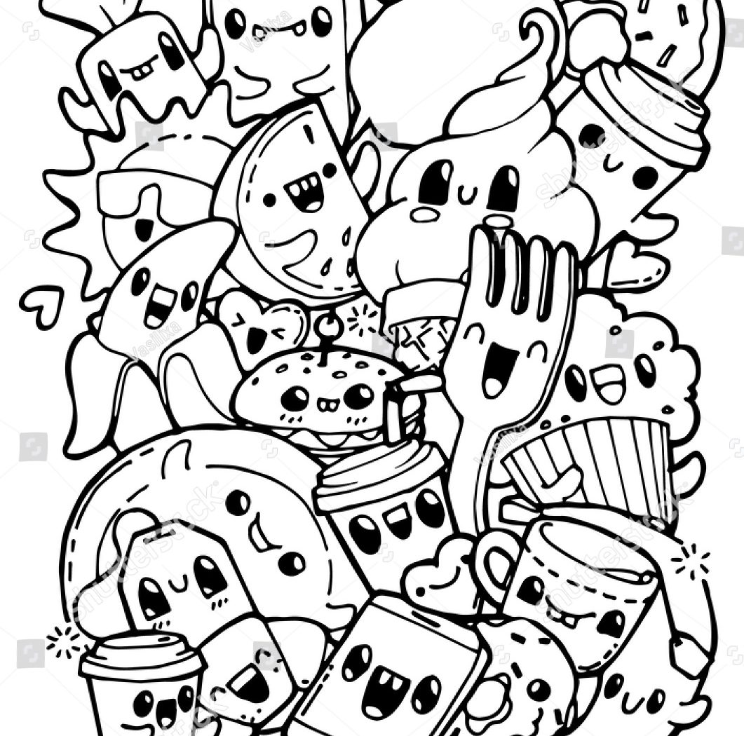 1061x1050 Bestanksgiving Food Coloring Pages Cut And Paste Of Worksheet