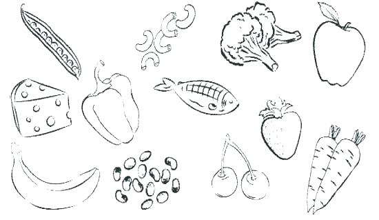 550x319 Junk Food Coloring Pages